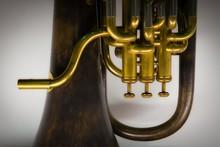 Closeup Shot Of A Tuba Musical...