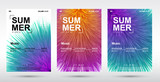 Creative electronic music fest and electro summer poster. Abstract plush gradients music background.