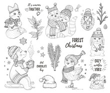 Christmas Cute Forest Animals ...