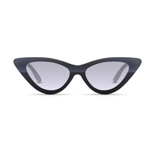 Women Eyewear. 3D Realistic Vector Sunglasses Isolated On White. Cat Eye Shaped Style. Trendy Fashion Accessory. Front View.