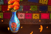 Day Of The Dead Flowers For Of...