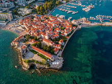 Aerial View Of Budva, The Old ...