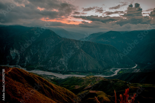 Photo Stands Black THE CHICAMOCHA CANYON IN COLOMBIA