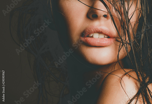 Fototapeta  Portrait of young woman with fashion makeup