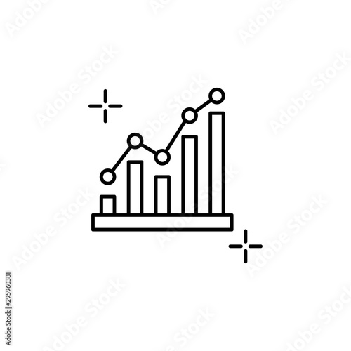 Fototapety, obrazy: Progress chart business icon. Element of global business icon