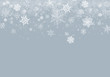 Grey Winter Background with snowflakes for your own creations