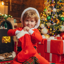 Christmas Stockings, Cute Sant...