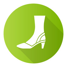 Slingback High Heels Green Fla...