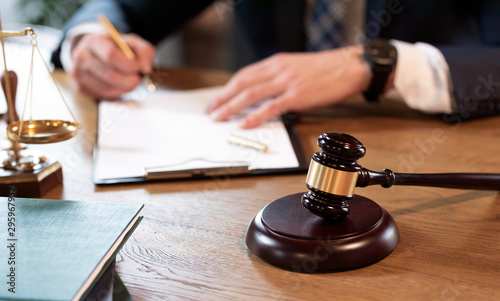 Photo Lawyer or attorney working in the office
