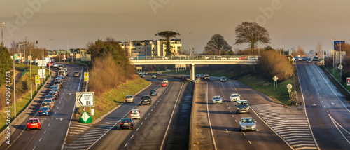 Tuinposter Oude gebouw Highway motorway ring road Cork City Ireland transport traffic