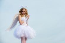 Angel Children Girl With White...