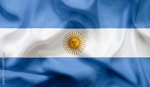 Poster Amérique du Sud Flag of Argentina