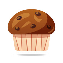 Chocolate Muffin Vector Isolat...