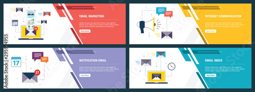 Cuadros en Lienzo Email marketing and business communication