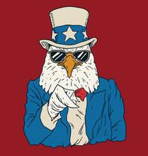 Vintage American Bald Eagle Dr...