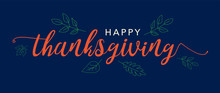Happy Thanksgiving Text Vector...