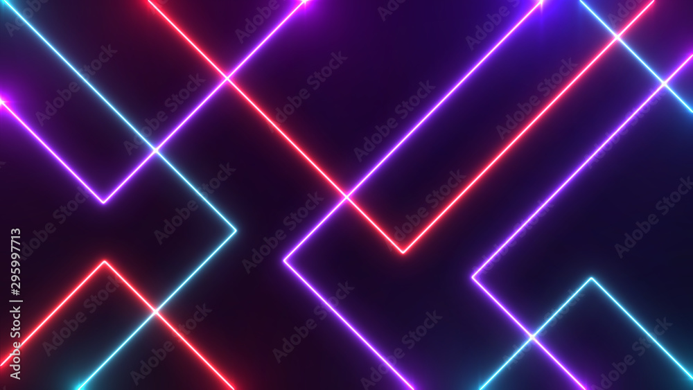 Fototapety, obrazy: Abstract Neon bright lens flare colored on black background. Laser show colorful design for banners advertising technologies