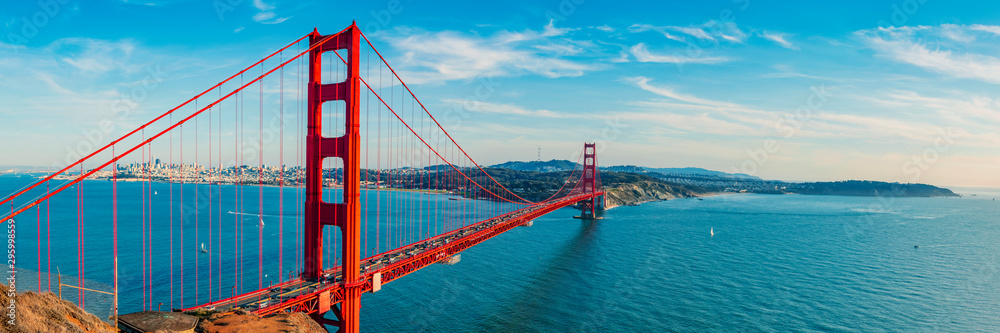 Fototapeta Golden Gate Bridge panorama, San Francisco California