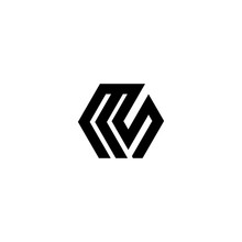 M S Letter Vector Logo Abstract