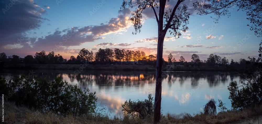 Fototapeta Panoramic River Sunset