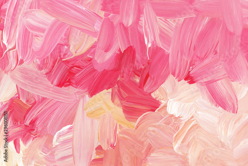 Fotobehang Candy roze Abstract colorful brush strokes background texture
