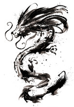 A Chinese Dragon With Glowing ...