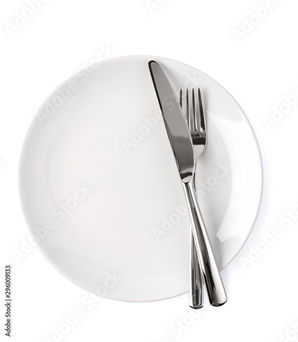 Canvastavla plate and cutlery