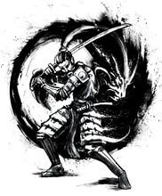 A Formidable Samurai In Armor ...