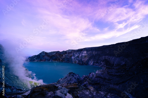 Printed kitchen splashbacks Purple The Ijen volcano complex is a group of composite volcanoes located on the border between Banyuwangi Regency and Bondowoso Regency of East Java, Indonesia.