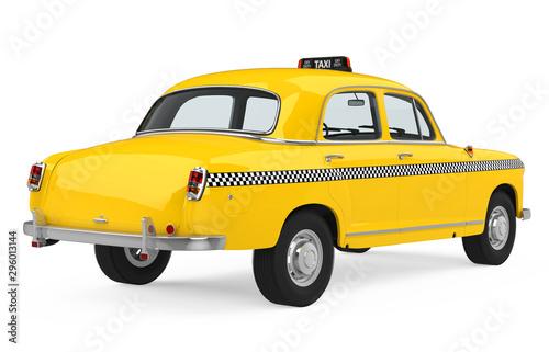 Fototapeta Vintage Taxi Isolated