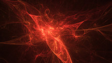 Abstract Orange Fiery Shapes. ...