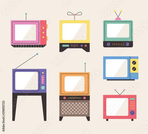 Fototapeta Old design televisions