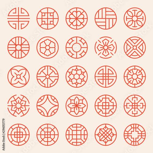 Carta da parati  Korean and Asian traditional patterns