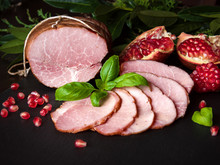 Smoked Ham With Herbs, Fruits ...