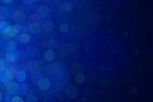 キラキラした青のボケ