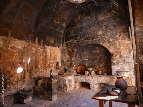 Old nuns kitchen in  Saint Catherine Monastery (Convento de Santa Catalina), Are Canvas Print