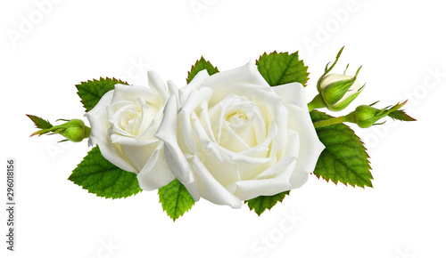 Rose flowers in a floral arrangement Canvas Print