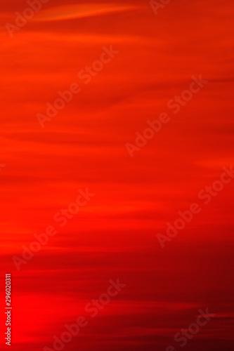 Montage in der Fensternische Rot kubanischen Red sky in the evening very beautiful time.