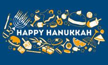Hanukkah Greeting Design Templ...