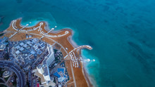 Aerial View To The Dead Sea Be...