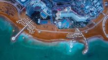 Aerial View To The Dead Sea Beach, Ein Bokek, Israel