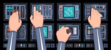 Spaceship Control Panel With H...