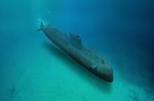 Naval Submarine Submerge Under...