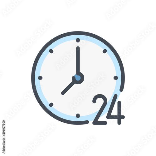 Fényképezés 24 hours clock color line icon