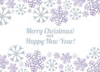 Merry Christmas and Happy New Year. Light background with snowflakes for postcards, invitations, banners.
