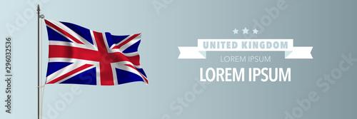 Fotografie, Obraz United Kingdom of great Britain national day greeting card, banner vector illust