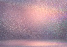Pink Shimmer Room 3d Background. Sparkles Wall Texture. Flicker Pattern Abstract. Luxury Interior.