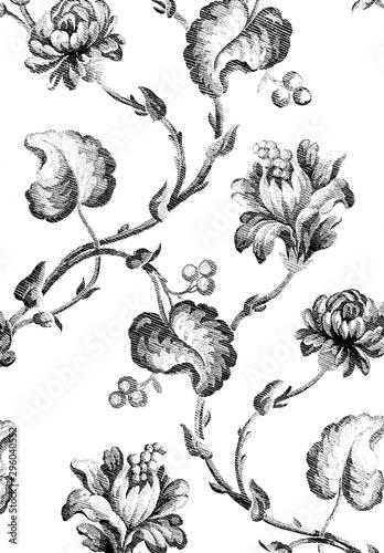 tekstura-tkaniny-kwiatowy-wzor