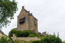 View Of The Historic Castle Of Larochette In The Village Of Larochette In The  Canton Of Mersch In Luxembourg