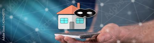 Cuadros en Lienzo  Concept of home burglary